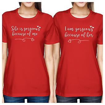 She Is Gorgeous Red Short Sleeve Matching Tee Cute Mothers Day Gift