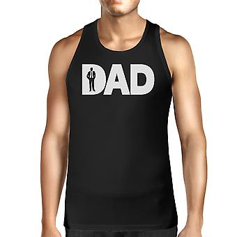 Dad Business Mens Black Unique Graphic Tank Top Funny Gifts For Dad