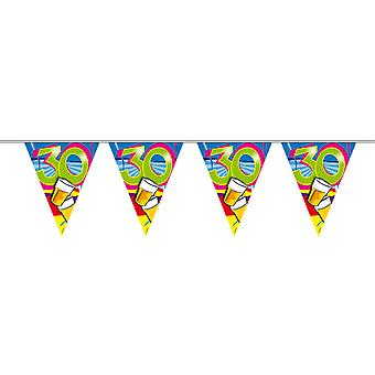 Pennant chain 10 m Garland 30 birthday decoration party beer scene