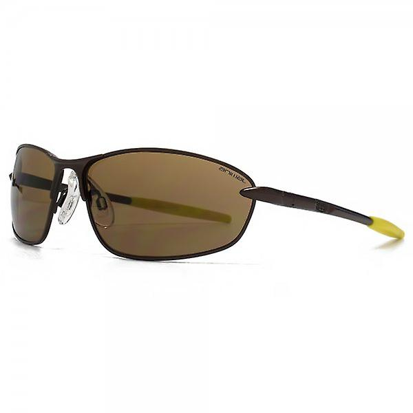 Animal Vert Oval Metal Sunglasses In Matte Dark Brown