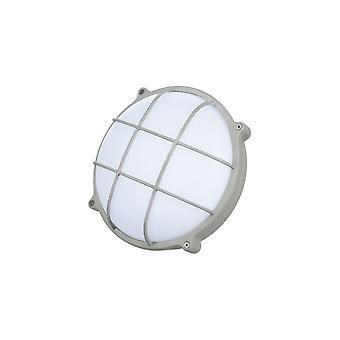 Timeguard Round Graphite Grey Crosshatch 25W LED Outdoor Bulkhead