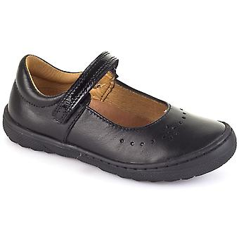 Froddo Froddo G3140053 Girls Black Leather School Shoes With Scuff Protection