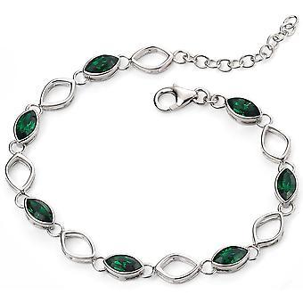 925 Silver Plated Rhodium Bracelet Swarovski