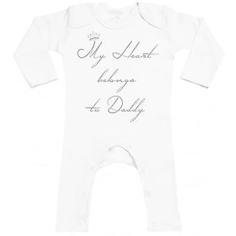 Spoilt Rotten My Heart Belongs To Daddy Baby Footless Romper