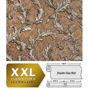 Flowers wallpaper EDEM 9010-35 non-woven wallpaper shaped Baroque-style shiny brown bronze silver 10.65 m2