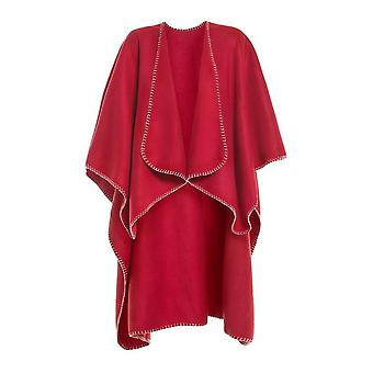 ID mujeres/damas Fleece Poncho/cabo