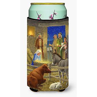 Nativity Scene Tall Boy Beverage Insulator Hugger