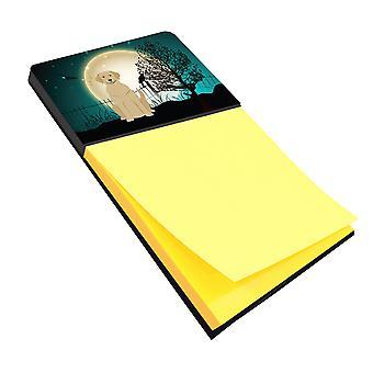 Carolines tesoros BB2245SN Halloween miedo Labrador amarillo Nota adhesiva soporte