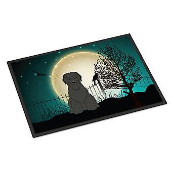 Halloween Scary Briard Black Indoor or Outdoor Mat 24x36