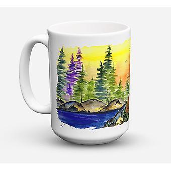 American Water Spaniel lavastoviglie sicuro Microwavable Ceramic Coffee Mug 15 oncia