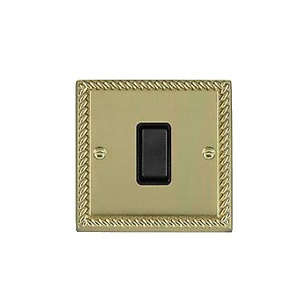 Hamilton Litestat Cheriton Georgian Polished Brass 10AX PTM Ret Rkr BL/BL