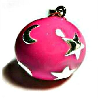 Mexican Bola Pendant Celestial Pink