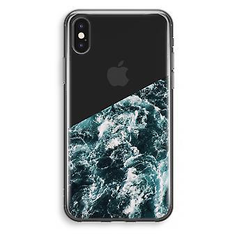 iPhone X gjennomsiktig sak (myk) - Ocean bølge