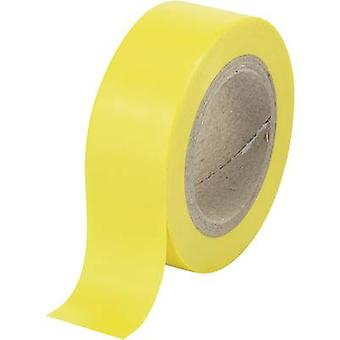 Electrical tape Conrad Components Yellow (L x W) 25 m x 19 mm
