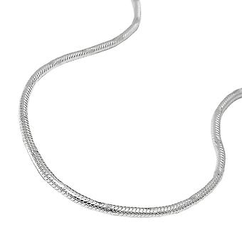 Necklace round snake chain silver 925 38cm