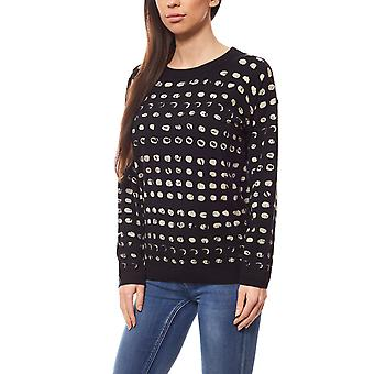 Lee women's sweater black with pattern