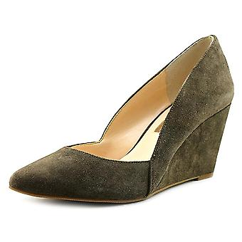 INC International Concepts Womens Zarie Leather Closed Toe Wedge Pumps