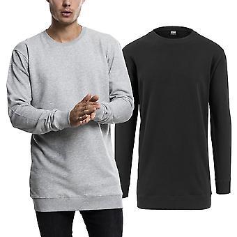 Urban classics - light fleece crewneck sweater, extra long
