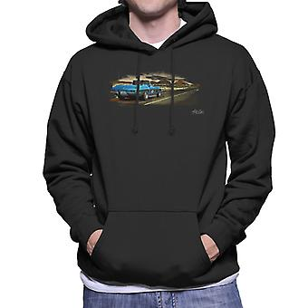Chevrolet Corvette Stingray Convertible Desert Art Black Men's Hooded Sweatshirt