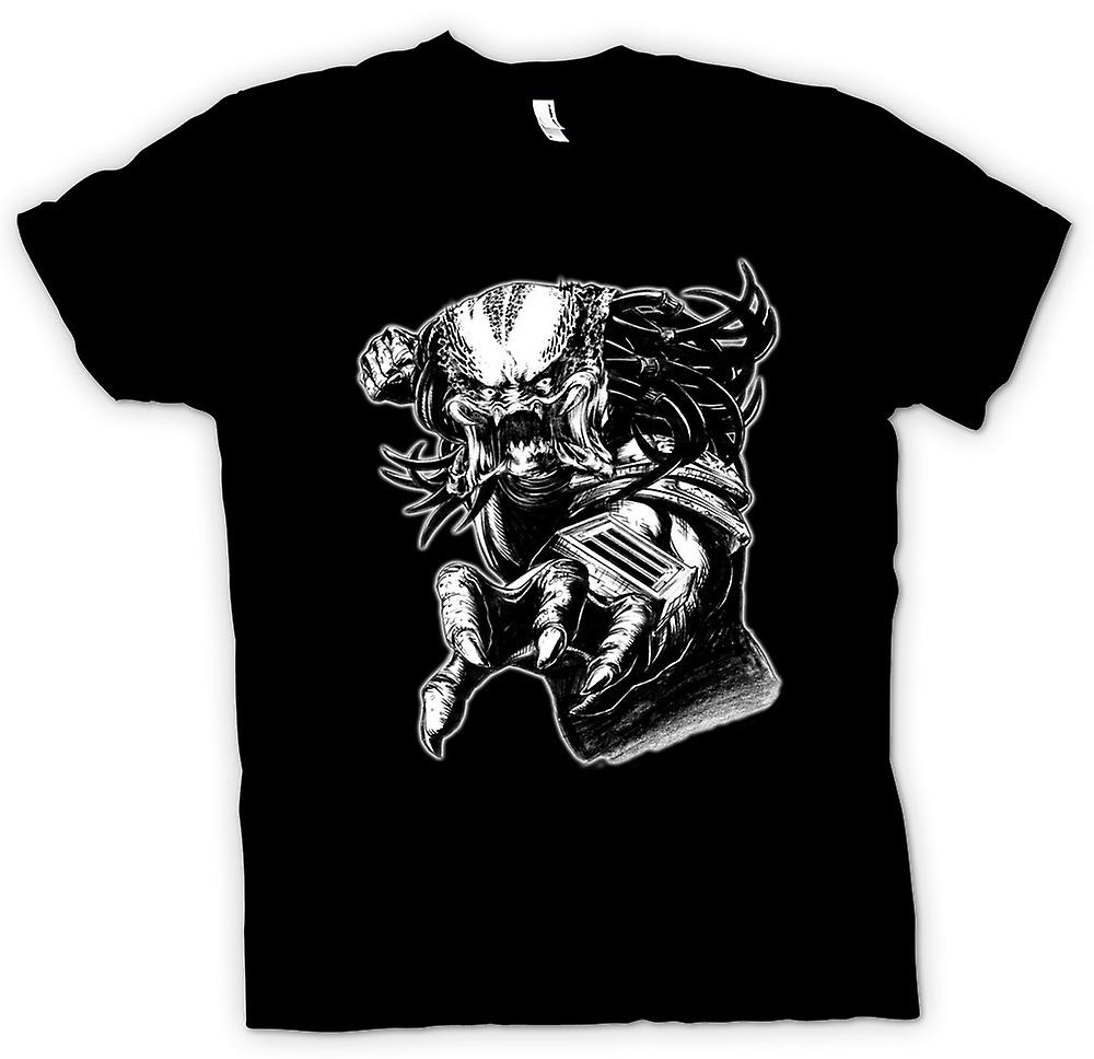 Mens T-shirt - Predator Alien - Sketch