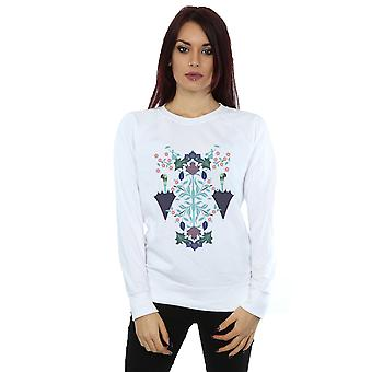 Disney Women's Mary Poppins Floral Collage Sweatshirt