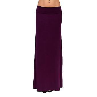 Women's Maxi Skirt Rayon Span Fold over Waist Band Floor Full Length Made in the USA