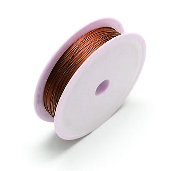 1 X braun vernickelt Kupfer 0,4 mm x 12 m Runde Craft Wire Spool HA16515