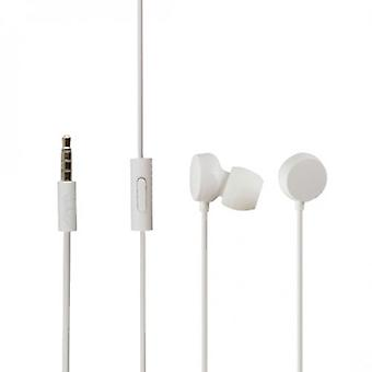 Original Nokia WH-208 3, 5mm stereo headset in-ear headphones white - bulk
