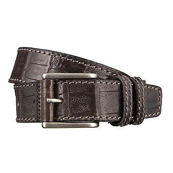OTTO KERN belts men's belts leather belt chocolate 2964