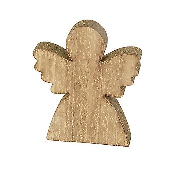 Heaven Sends Wood Angel With Glitter