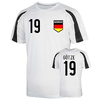 Allemagne Entraînement sportif Jersey (Götze 19)