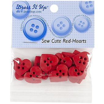 Dress It Up Holiday Embellishments-Sew Cute Red Hearts