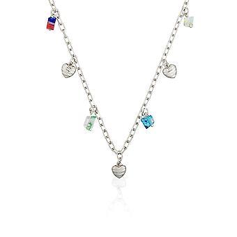 Orphelia Silber 925 Halskette 42 Cm mit Farben ZK-2595