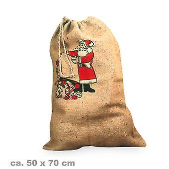 Nicholas bag canvas 50x70cm Christmas accessory print