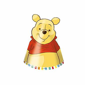 Winnie the Pooh Winnie the Pooh party hats 6 piece children birthday theme party