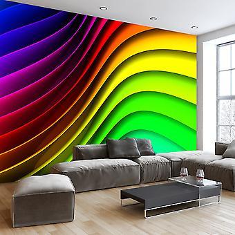 Fototapete - Rainbow Waves