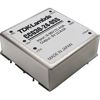 TDK-Lambda CCG-30-24-12S DC/DC converter (print) 12 V 2.5 A 30.0 W No. of outputs: 1 x