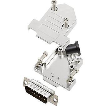 encitech bande de broches SUB-D D45NT15-M-DBP-K la valeur 45 ° nombre de broches: 15 soudure seau 1 jeu