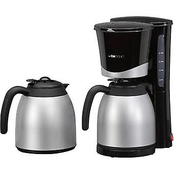 Coffee maker Clatronic KA 3328 Black, Silver Cup volume=10 Thermal jug