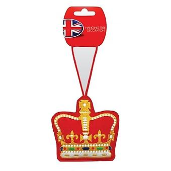 Union Jack Wear Royal Crown Christmas Tree Decoration