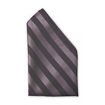 Handkerchief black silvery noble glossy striped Web Strip Fabio Farini