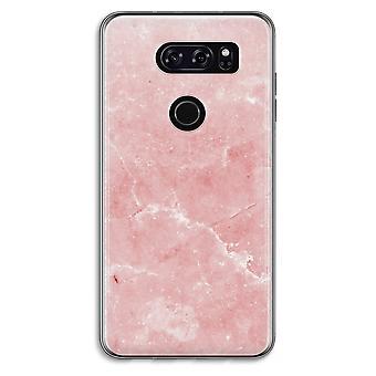 LG V30 Transparent fodral (Soft) - rosa marmor