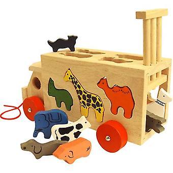 Bigjigs Wooden Toys Animal Shape Wagon