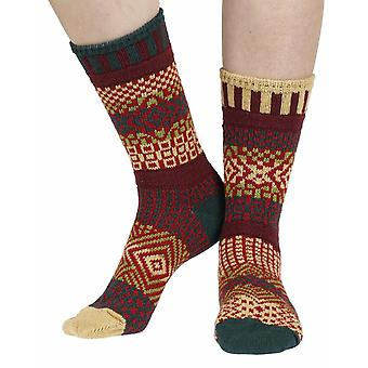 Maple Leaf recycled cotton multicolour odd-socks   Crafted by Solmate