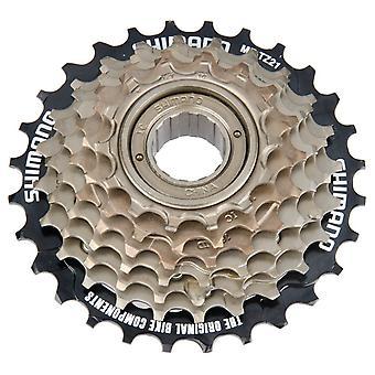 Shimano MF-TZ21 (tourney) / / 7-speed freewheel screw ring (14-28 teeth)