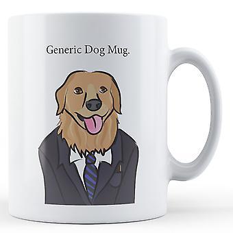 Rodzajowy pies kubek. -Kubek drukowane
