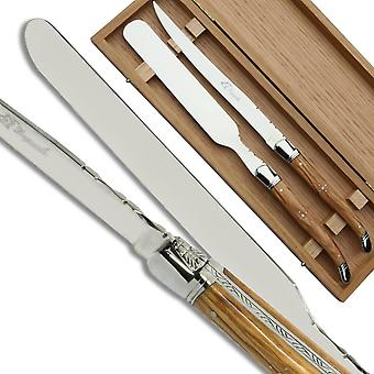 Laguiole Foie gras server olive wood handle Direct from France