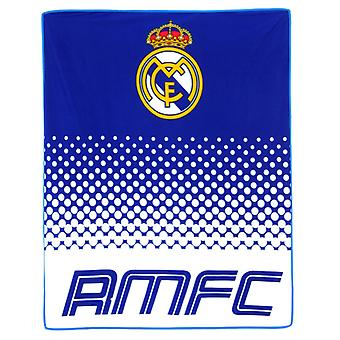 Real Madrid 125 x 150 cm Fade Blanket fleece blanket