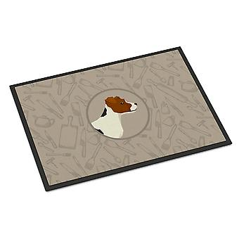 Jack Russell Terrier In the Kitchen Indoor or Outdoor Mat 24x36