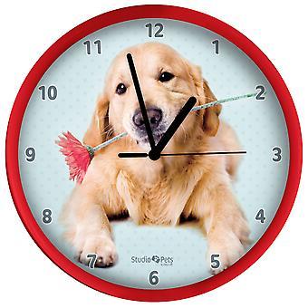Golden Retriever Uhr 25 cm